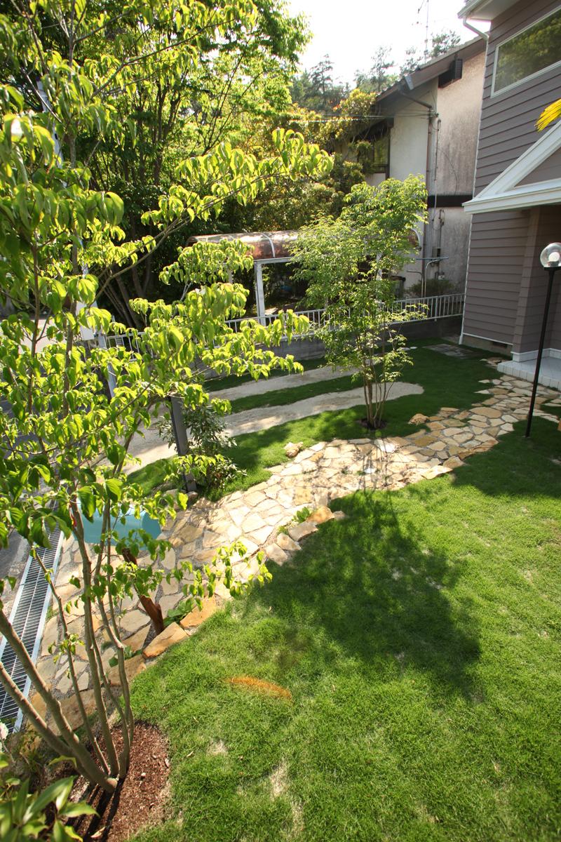 庭園設計・施工・管理|S邸フロントガーデンリフォーム(滋賀県大津市)